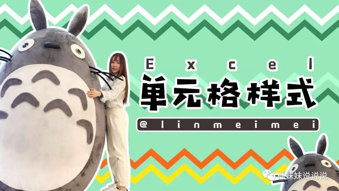 《林妹妹说》Excel 第11课 单元格样式